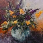 Purple and Orange Buddleia SOLD