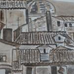 Assisi Day Karel Lek ink and watercolour