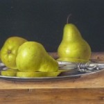 Williams Pears on a Silver Plate