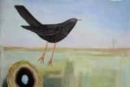 Blackbird Nest and Summer Field