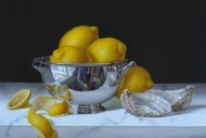 Lemons in a Silver Dish SOLD
