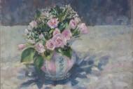 Pinks in Stripey Mug SOLD