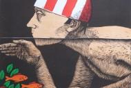 Frans Wesselman Swimmer II woodcut 42x49 cm   365 (300)