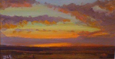 Dusk over Hiraethog SOLD