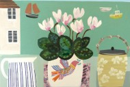 Cyclamen in Bird Pot SOLD