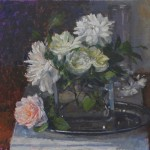 Roses on a Silver Tray