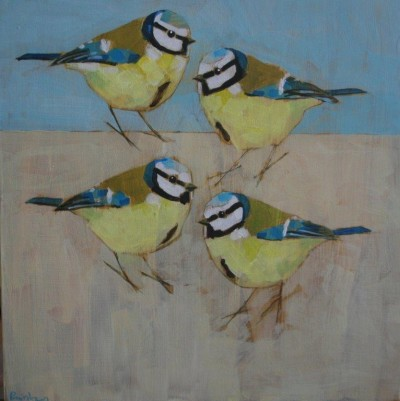 Four Blue Tits SOLD
