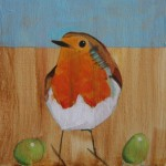 Robin and Grapes SOLD