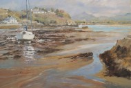 roger jones borth y gest boats low tide