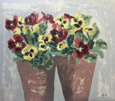 Red and Yellow Pansies