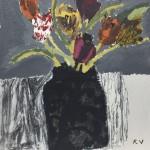 Tulips in a Black Vase SOLD