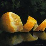peeled lemon
