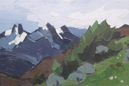The Andes above Esquel by Sir Kyffin Williams