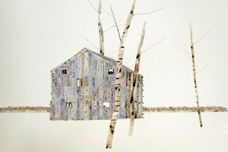Blue Cube Barn by Kate Evans