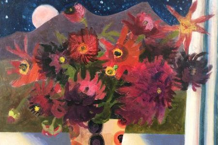Chysanthemums and Harvest Moon by Arabella Shand