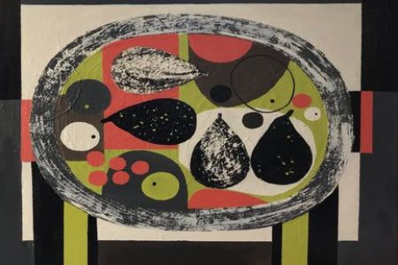 Fruit plate No3 by Rosemary Vanns
